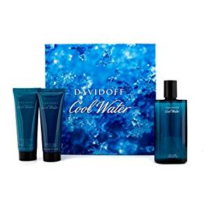Davidoff Cool Water Coffret: Edt Spray 125Ml/4.2Oz + After Shave Balm 75Ml/2.5Oz + Shower Gel 75Ml/2.5Oz For Men 3Pcs