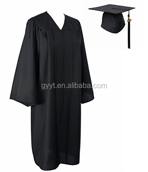 Graduation cap gown 100% Matt Polyester university gown