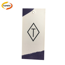 Manufacturer custom garment hangtag for clothing paper hangtag