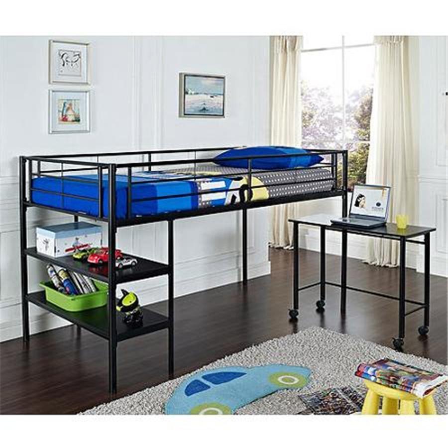 Kinderen slaapkamer meubilair metalen hoogslaper met bureau en ...