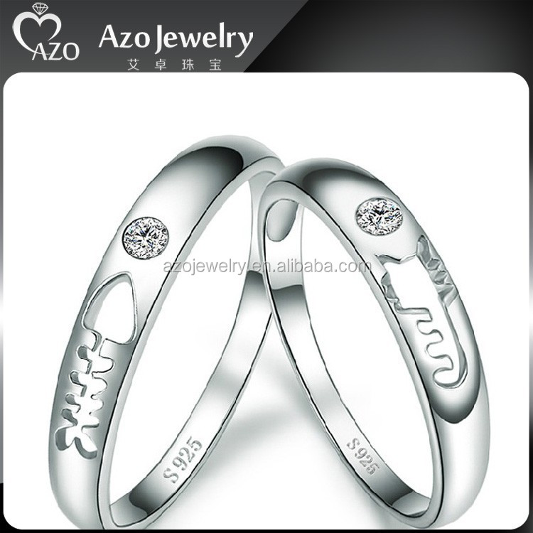 925 Sterling Silver King And Queen Couple Ring, 925 Sterling ...