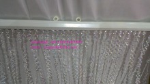 Acrylic crystal bead curtain , hanging crystal wedding curtain for decoration