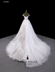Gold Embroidery Wedding Dress Gold Embroidery Wedding Dress