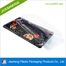 Disposable Plastic Clear Sushi Vegetable Meat Tray With Lid PS