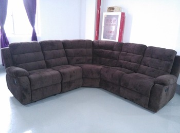Champion Chocolate Fabric Sofa Sectional Recliner Corner