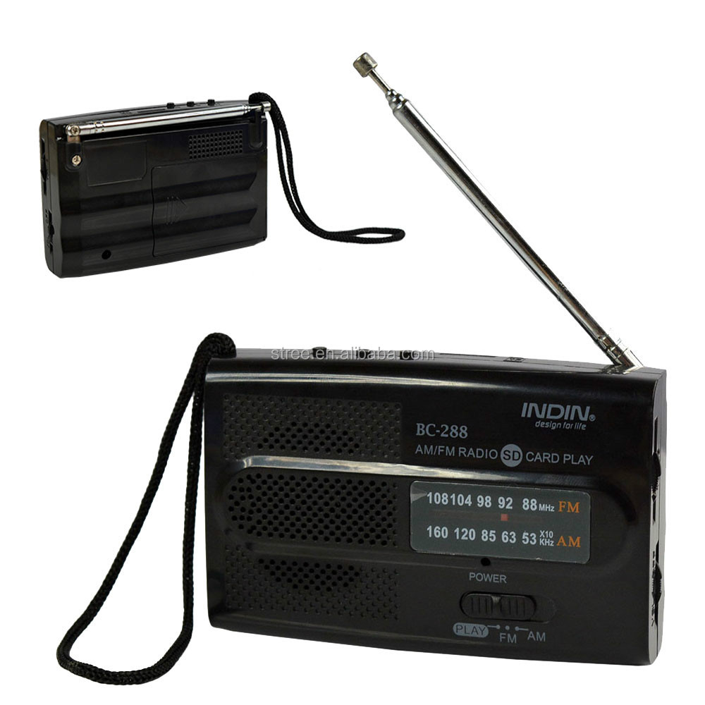 Mini AM FM Stasiun Radio Online Streaming Musik Receiver Isi Ulang Radio