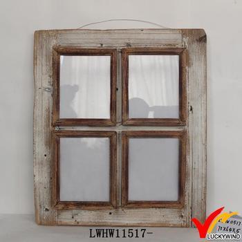 Fenetre Rustique vieux rustique sculpté suspension bois fenêtre cadre photo - buy