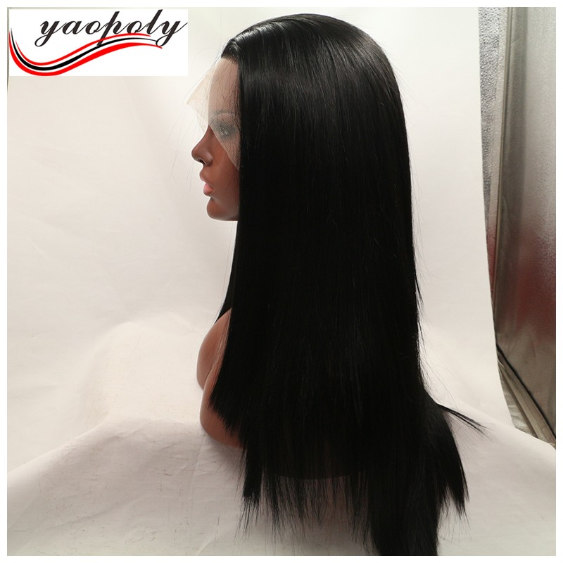 wholesale long wig natural color 24inch overnight delivery lace wigs in mobile phone