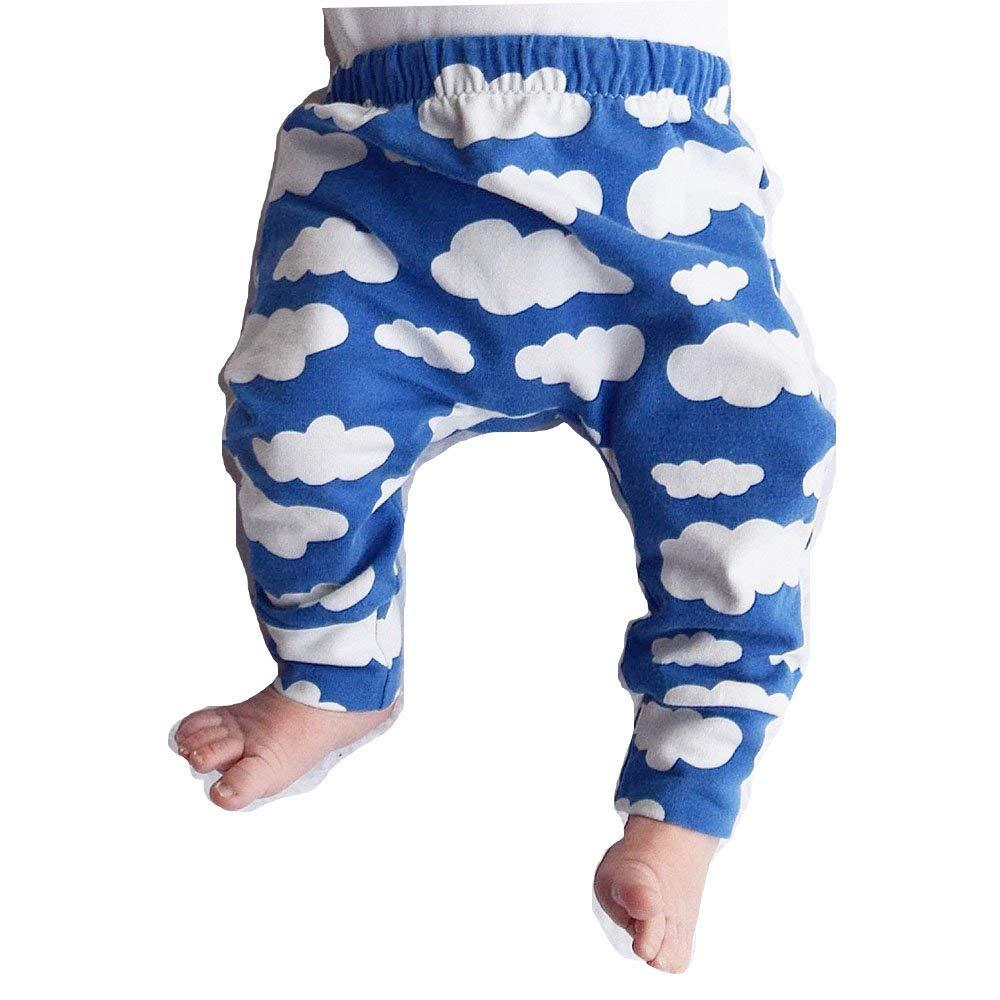 MILA Baby Boys Girls Cartoon Cloud Print Legging PP Pants Long Harem Pants Spring, Summer, Autumn