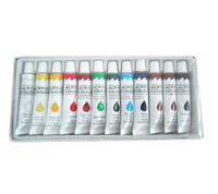12ml acrylic paint ,acrylic colour 12colors 12ml oil paints