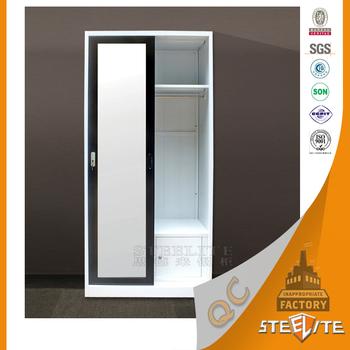 New Home Furniture Set Portable Low Price Sliding Door Bedroom Wardrobe  Closet With Mirror