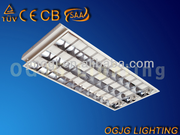 grid lamp T8 grille light fixture, T8 fluorescent louver fitting