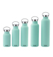 Stainless Steel Material Travel Vacuum Insulated Flask Thermos Cola Water Bottle With Straw Handle Screw Lid Cover