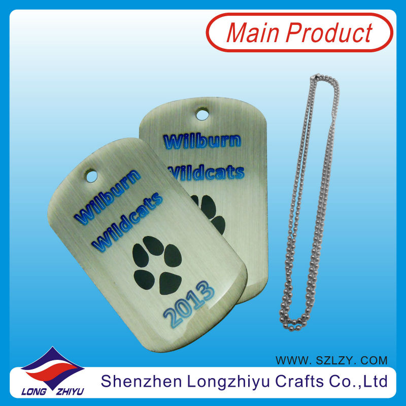 Footprint Paw Shape Dog Tag printing hang tag