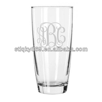 Machine blown glass cups drinking beer high quality beer glass cups with etch logo funny beer glass