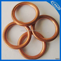 Manufacturer of flat copper sealing washer, copper o ring washer, copper flat gasket,