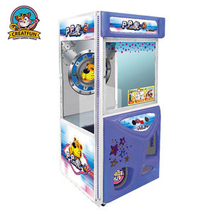Indoor game center design kids coin operated game pp tiger crane machine toy
