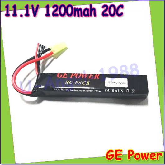 1pcs GE Power High Power 11.1V 1200mAh 20C 3S Li Po AEG Airsoft Battery