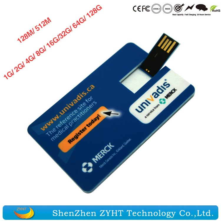 wholesale Plastic Business Card USB Stick 1mb Cheap Memory Stick