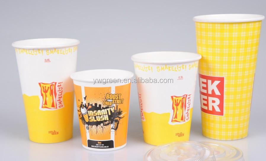 Custom college paper coffee cups wedding