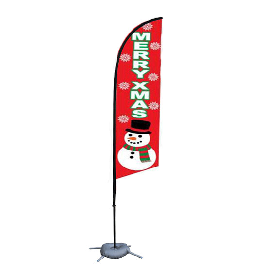 Fiberglass Flagpole Material and Advertising Usage beach flag steel plate base