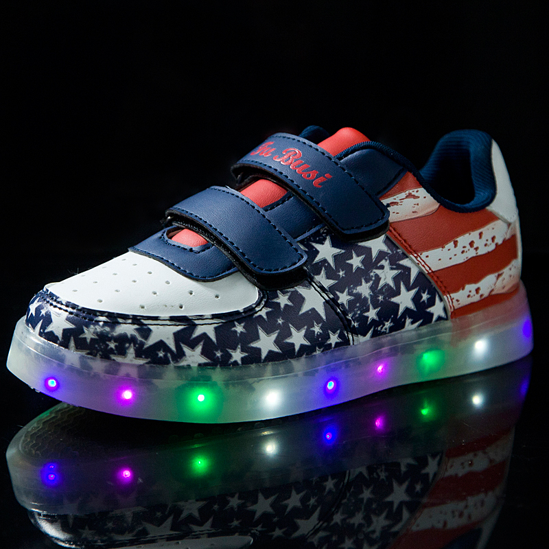 2015 men casual shoes with colorful lighting in hot selling