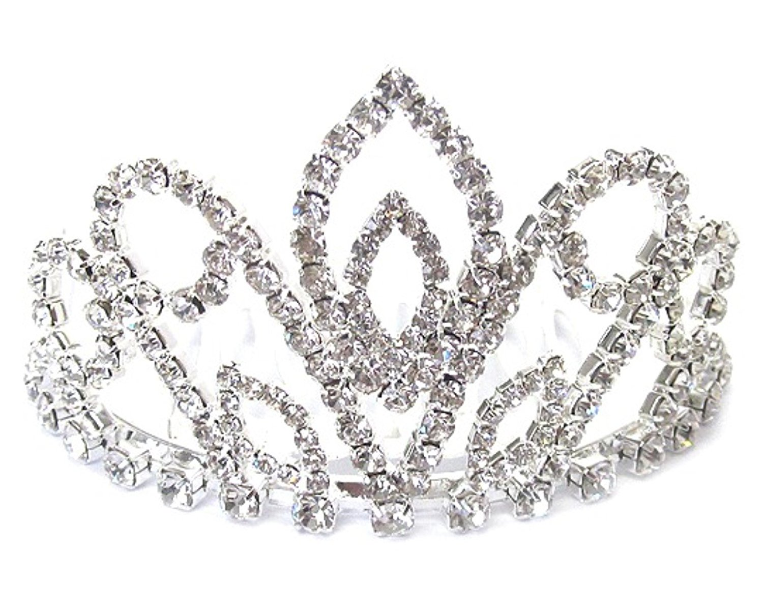 Cheap girl flower crown find girl flower crown deals on line at get quotations clear crystal tiara crown small bun sized silver tone bridal flower girl doll izmirmasajfo Image collections