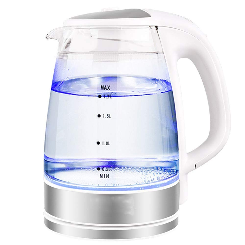Electric Kettle, Borosilicate Glass Pot, Household Automatic Power Off, 1.7L Transparent Body