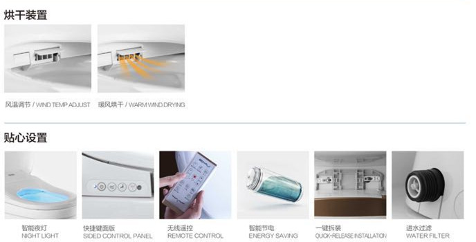 High Quality Smart Toilet Bidet Seat With Uf Cover Buy