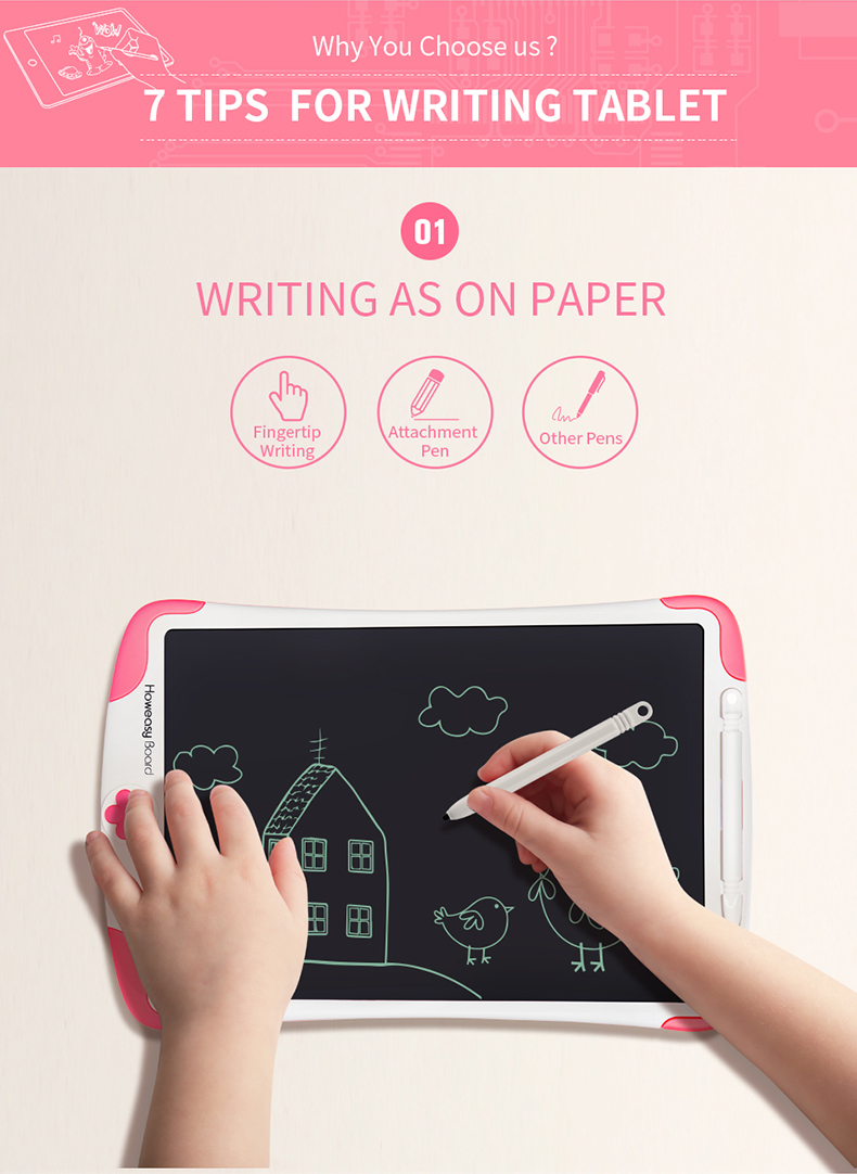 Howeasy board 10 inch factory OEM writing lcd drawing board digital writing tablet digital jot school blakboard