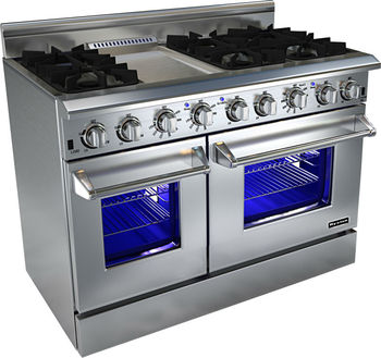 48 Inch Double Oven Gas Ranges With 6 Burners
