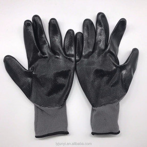 black High Quality Smooth Nitrile working Gloves 2