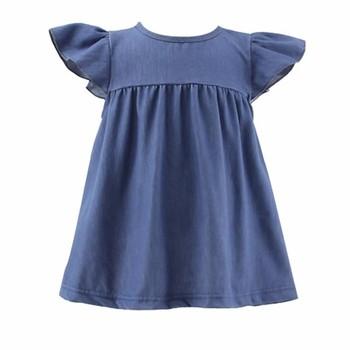 976f36d3238 wholesale kids latest jeans tops girls denim dress baby girls tunic smocked  frock