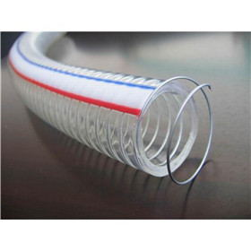 Flexible Clear Discharge and Suction PVC Hose with Steel Wire Spiral Reinforced