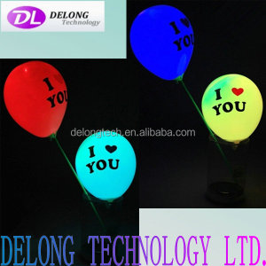 12 inch colourful light led latex balloon for party