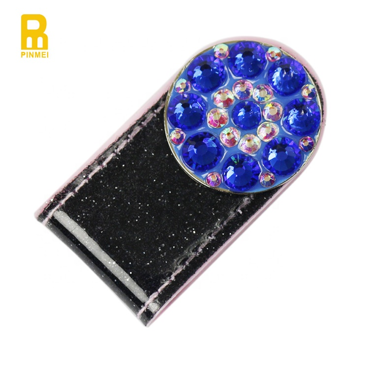 Magnetic golf strip shape hat clip sparkly golf ball marker hat clip