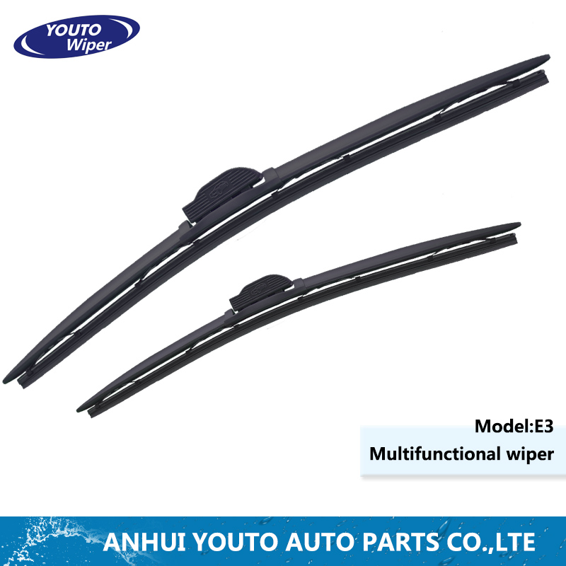 High efficient multifunctional wiper can replace the link head natural rubber boneless flat wiper blade.