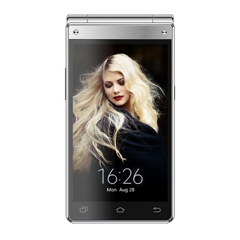 Latest Design dual screen1280*768 Custom Android Flip Mobile Phone OEM Smartphone 4G Mobile phone VKWORLD t2 plus