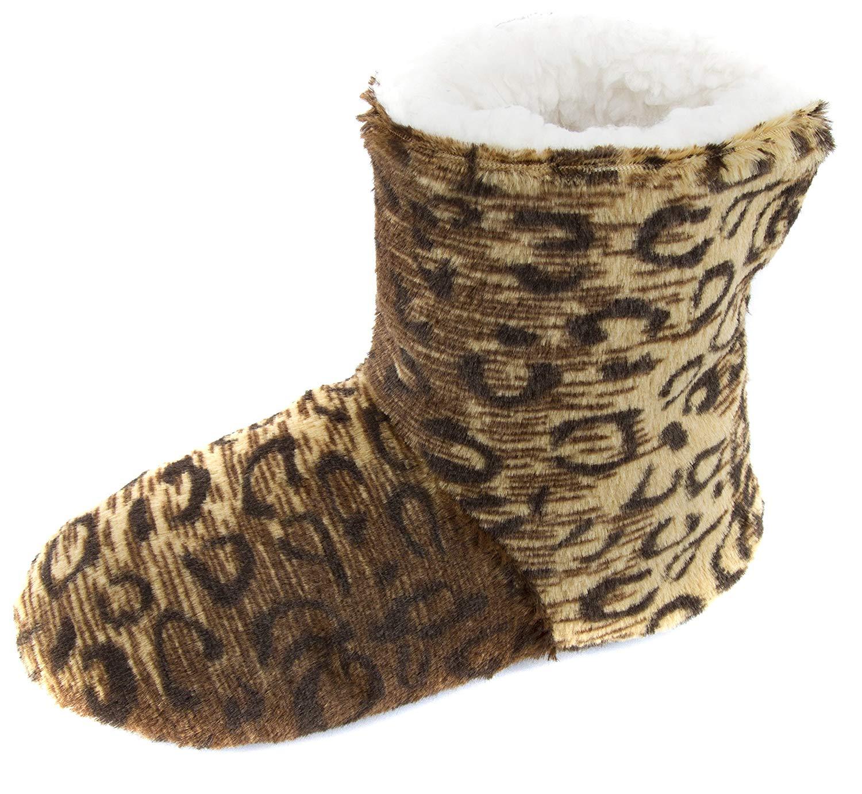 e0c62493bc0c Buy Leisureland Women  39 s Fleece Lined Cozy Slippers Embroidery ...