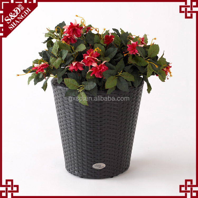 Multi designs polyurethane wicker woven home goods flower pots