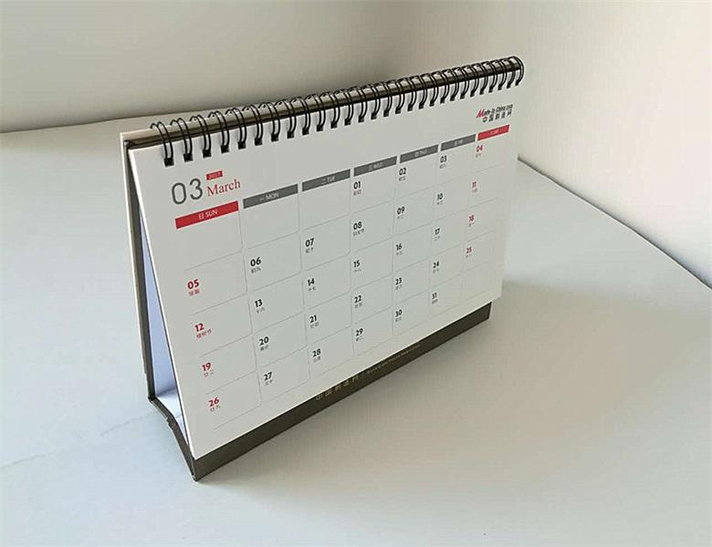 Commercial C2S Art Papier Spirale Table Calendrier Impression