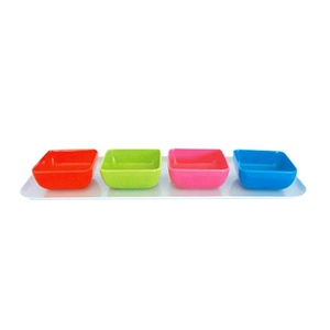 OEM mini plastic dip sauce bowl kitchen accessories fancy sauce dishes set melamine sauce bowl for tomato party dinner