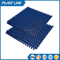 Plast Link 1280 Modular conveyor belt , POM or PP plastic modular belt for food standard
