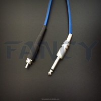 High Quality Professional Tattoo Silicone Power Supply RCA Clip Cord, Light Weight & Flexible