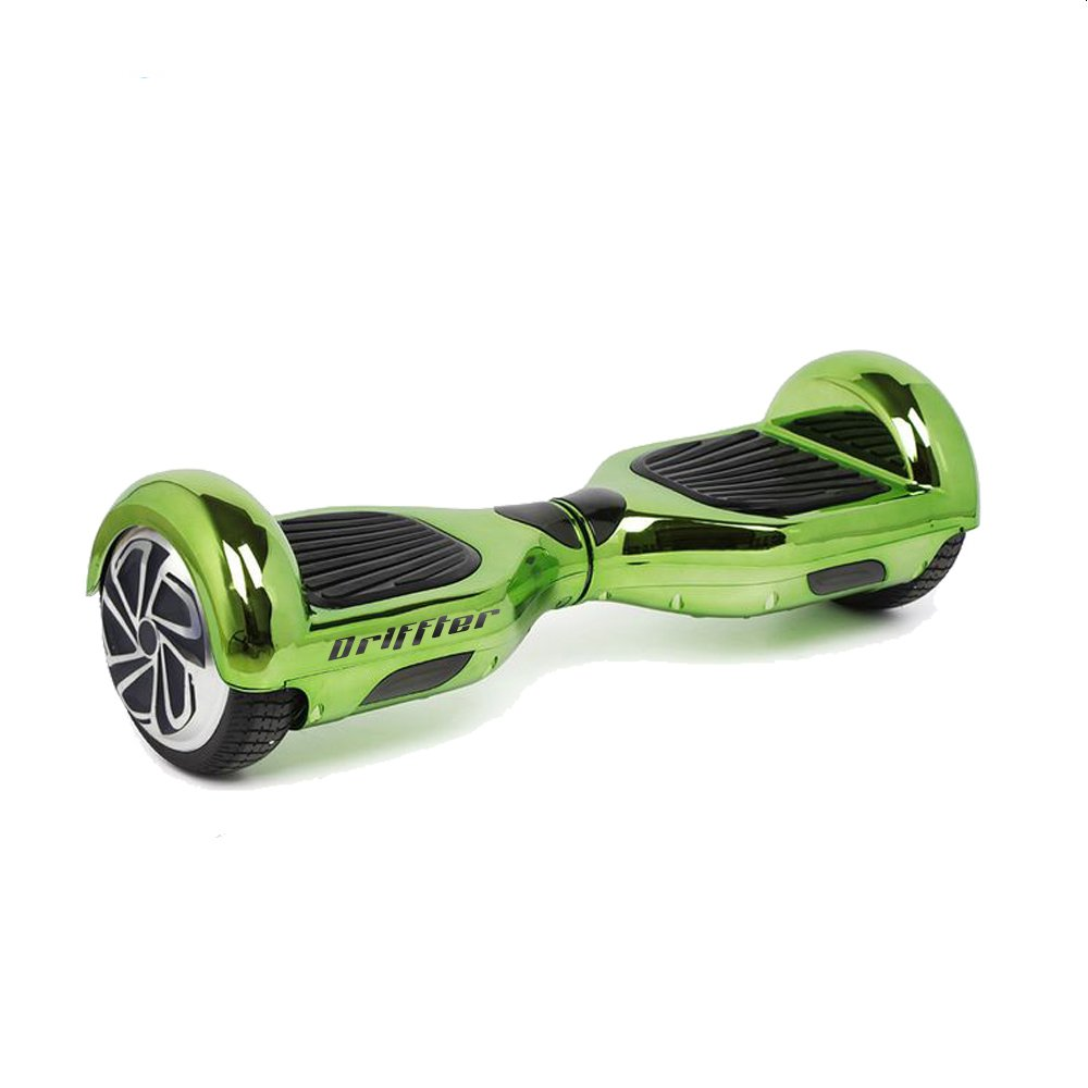 "Green Chrome 6.5"" UL 2272 Certified Hoverboard - Electric Self-Balancing Scooter"