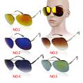 2016 New Sunglasses men women Reflective Lens Gold Silver Frame Metal PC UV400