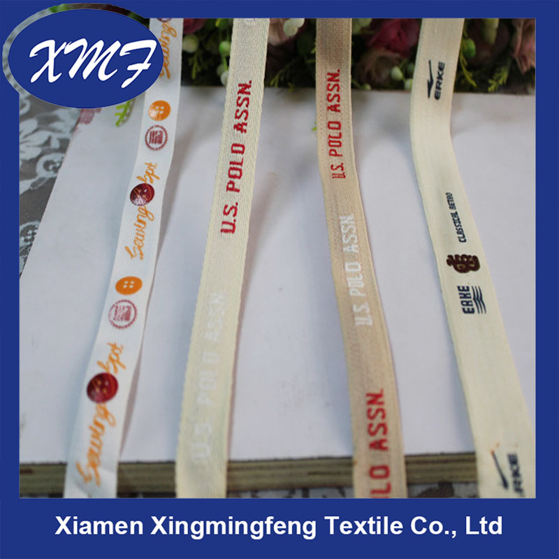new factory direct sell customized colorful cotton webbing flat webbing printed cotton webbing