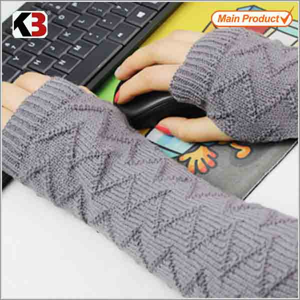 2016 Fashion cotton knit long fingerless gloves long veterinary glove fashion long hand gloves