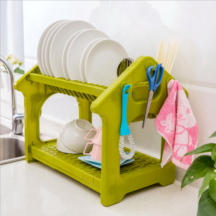 WL203 Useful Plastic Storage dish shelf kitchen Organizer dish racks kitchen storage racks