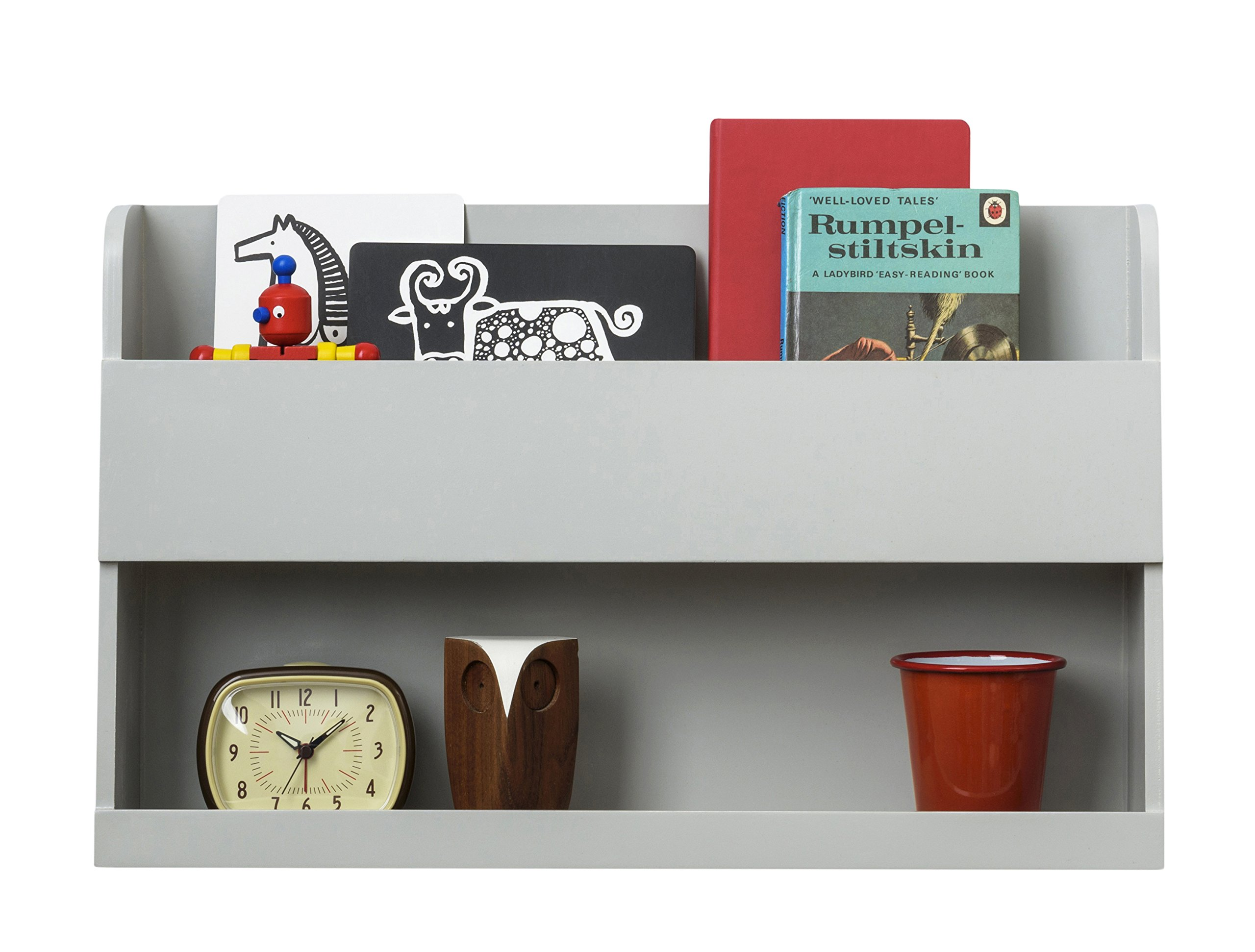 Tidy Books The Original Bunk Bed Buddy- Bunk Bed Shelf in Pale Grey - Wall Shelf for Bedside Table next to Bunk Beds and Cabin Beds - 13 x 20.9 x 4.7 IN
